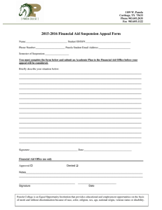 2015-2016 Financial Aid Suspension Appeal Form