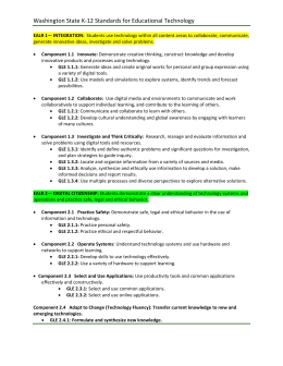 Washington State K‐12 Standards for Educational Technology