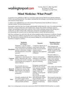 Mind Medicine: What Proof?