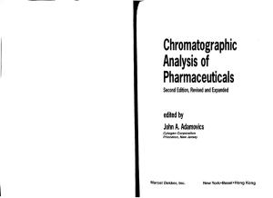 Chromatographic Analysis of Pharmaceuticals edited by