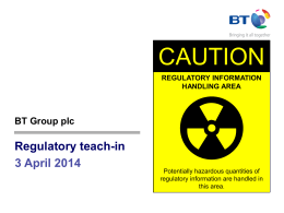 CAUTION Regulatory teach-in 3 April 2014