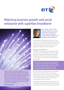 Matching business growth and social enterprise with superfast broadband