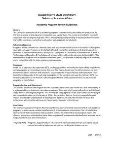 ELIZABETH CITY STATE UNIVERSITY  Division of Academic Affairs    Academic Program Review Guidelines