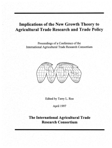 Implications  of the New  Growth  Theory to i