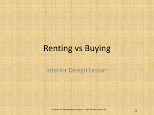 Renting vs Buying Interior Design Lesson 1