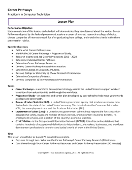 career research paper lesson plan