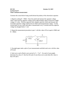 EE 210 October 22, 2015 Lecture/Lab 9 Time Constant measurement