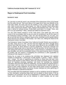Report of Subtropical Fruit Committee