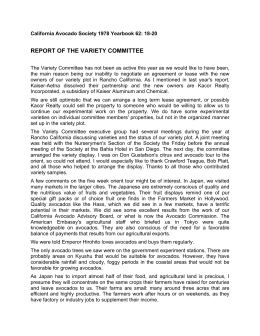 REPORT OF THE VARIETY COMMITTEE