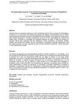 Proceedings VII World Avocado Congress 2011 (Actas VII Congreso Mundial... Cairns, Australia. 5 – 9 September 2011