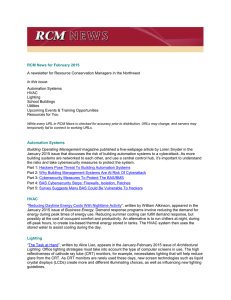 RCM News for February 2015 Automation Systems HVAC