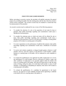 Policy 1015 Board of Directors Page 1 of 2