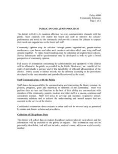 Policy 4000 Community Relations  Page 1 of 2
