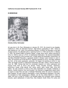 California Avocado Society 2000 Yearbook 84: 31-32  IN MEMORIAM Charles Arthur Schroeder