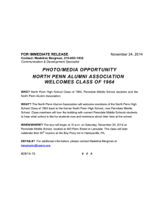 PHOTO/MEDIA OPPORTUNITY NORTH PENN ALUMNI ASSOCIATION WELCOMES CLASS OF 1964