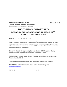 PHOTO/MEDIA OPPORTUNITY PENNBROOK MIDDLE SCHOOL HOST 10  ANNUAL SCIENCE FAIR
