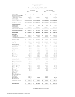 North Penn School District Nutrition Services Income Statement