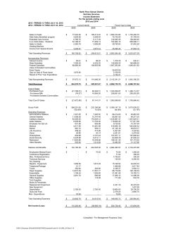North Penn School District Nutrition Services Income Statement For the periods ending June