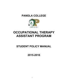 Occupational Therapy Assistant (OTA) bachelor degree example