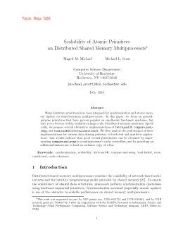 Scalability of Atomic Primitives on Distributed Shared Memory Multiprocessors