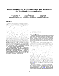 Inapproximability for Antiferromagnetic Spin Systems in the Tree Non-Uniqueness Region