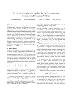 Accelerating Simulated Annealing for the Permanent and Combinatorial Counting Problems Ivona Bez´ akov´