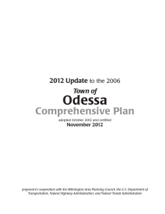 Odessa Comprehensive Plan 2012 Update Town of