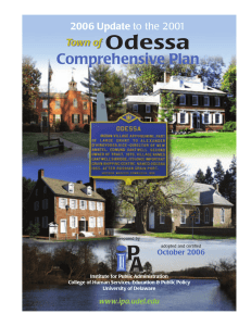 Odessa Comprehensive Plan Town of 2006 Update