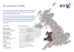 BT investing in Wales