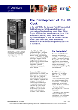 The Development of the K8 Kiosk