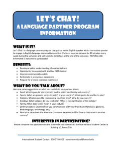 Let's Chat!  A Language Partner Program Information