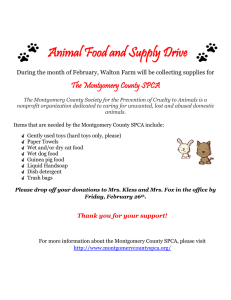 Animal Food and Supply Drive The Montgomery County SPCA