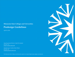 Predesign Guidelines Minnesota State Colleges and Universities  April 26, 2016