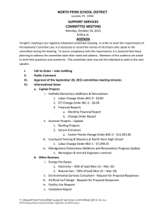 NORTH PENN SCHOOL DISTRICT SUPPORT SERVICES COMMITTEE MEETING AGENDA