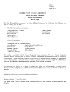 NORTH PENN SCHOOL DISTRICT Board of School Directors