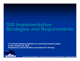 GIS Implementation Strategies and Requirements