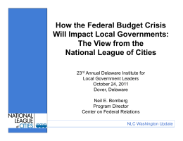 How the Federal Budget Crisis Will Impact Local Governments: