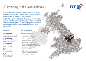 BT investing in the East Midlands