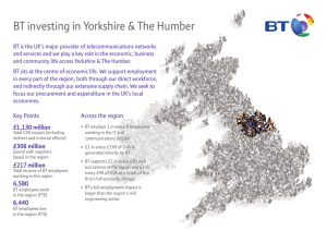BT investing in Yorkshire & The Humber