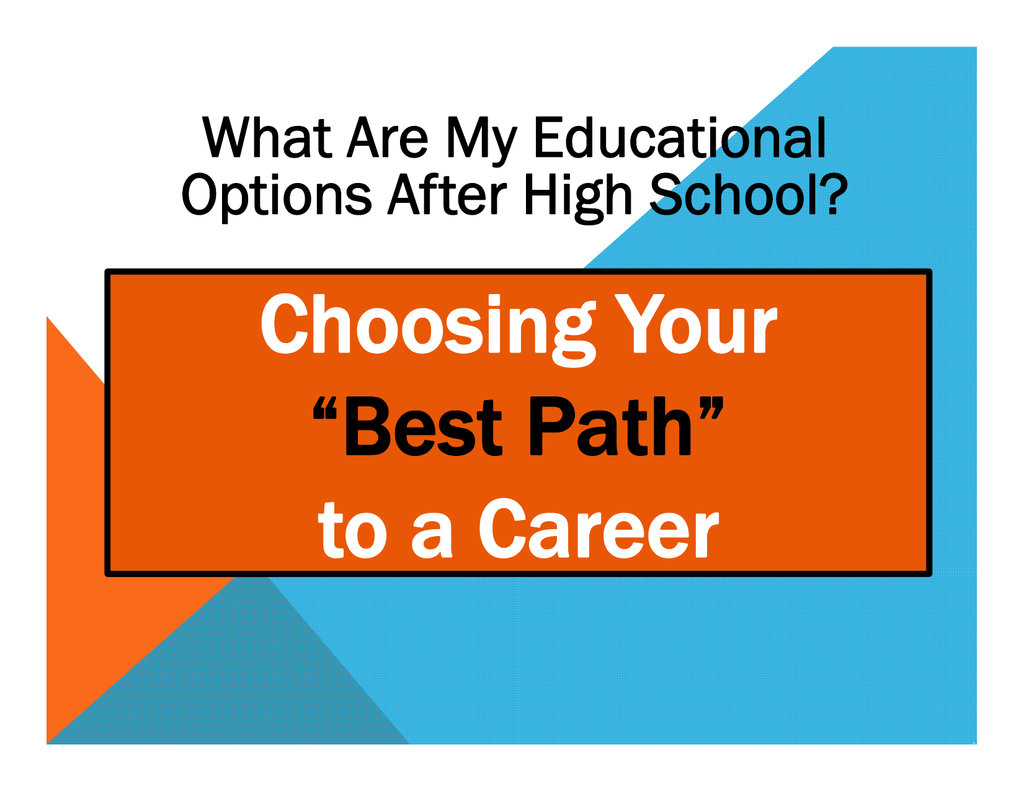 what are my options after high school