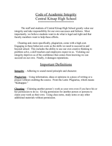 Code of Academic Integrity Central Kitsap High School
