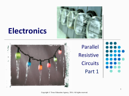 Electronics Parallel Resistive Circuits