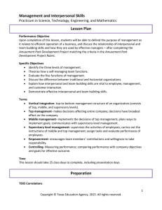 Management and Interpersonal Skills Lesson Plan