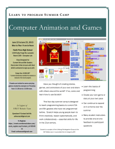 Computer Animation and Games L  S