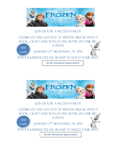 Join us for a frozen Party!