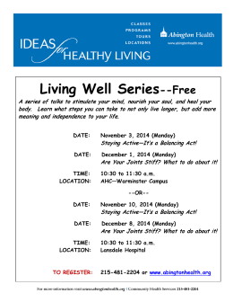 Living Well Series --Free