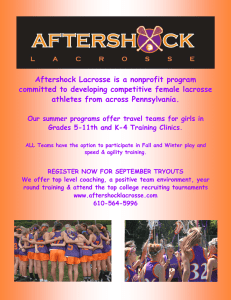 Aftershock Lacrosse is a nonprofit program athletes from across Pennsylvania.
