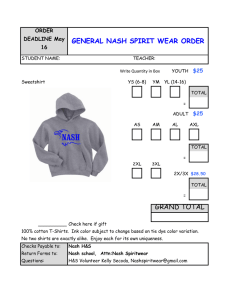General Nash GENERAL NASH SPIRIT WEAR ORDER