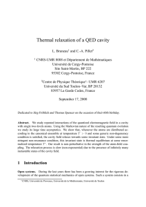 Thermal relaxation of a QED cavity
