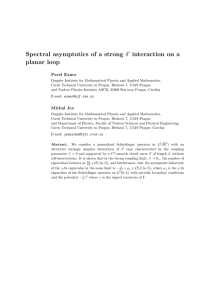 Spectral asymptotics of a strong interaction on a planar loop ′